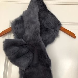 Beautiful Grey Ann Taylor Fur Scarf